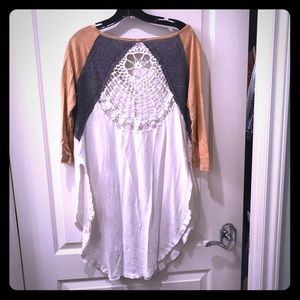 Gorgeous free people baseball tee